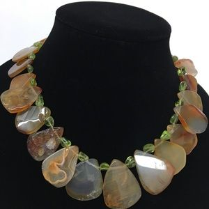 Jewelry - Beautiful Vintage Statement NECKLACE natural stone